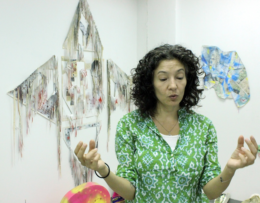 Elissa Levy at her Studio in Downtown Brooklyn