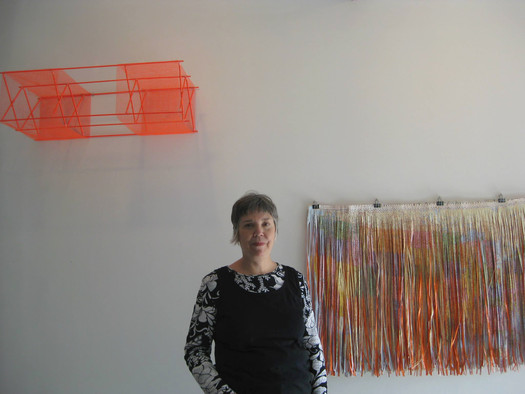 Dana Kane in her studio, 2013. Image courtesy of the artist